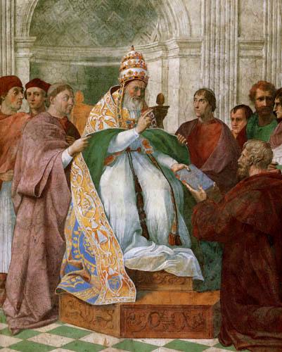Raffaelo Raphael (Sanzio da Urbino) - Gregor IX. empfängt die Dekretalien