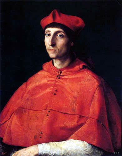 Raffaelo Raphael (Sanzio da Urbino) - Portrait of a Cardinal