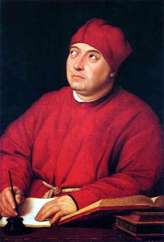 Raffaelo Raphael (Sanzio da Urbino) - Portrait of Tommaso Inghirami
