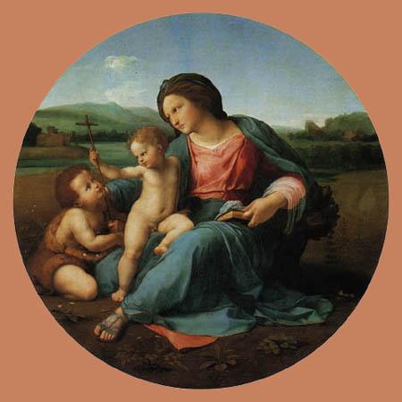 Raffaelo Raphael (Sanzio da Urbino) - Madonna Alba