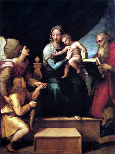 Raffaelo Raphael (Sanzio da Urbino) - Madonna with the fish