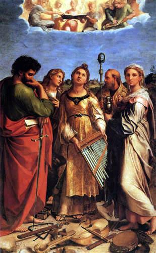 Raffaelo Raphael (Sanzio da Urbino) - Hl. Cäcilie mit Heiligen