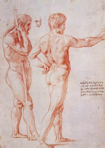 Raffaelo Raphael (Sanzio da Urbino) - Nude, study