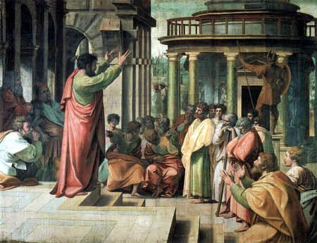 Raffaelo Raphael (Sanzio da Urbino) - The preaching of Paul in Athens