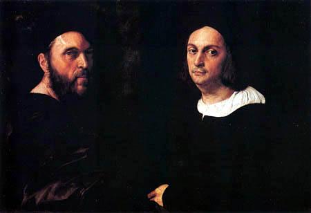 Raffaelo Raphael (Sanzio da Urbino) - Andrea Navagero and Agostino Beazzano