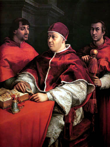 Raffaelo Raphael (Sanzio da Urbino) - Portrait of Leo X