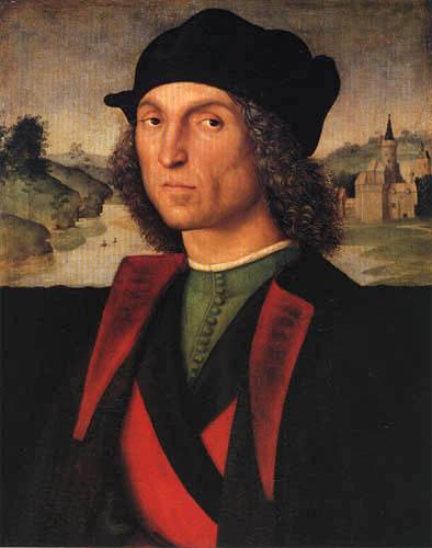 Raffaelo Raphael (Sanzio da Urbino) - Portrait of Guidobaldo I. da Montefeltro