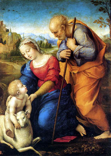 Raffaelo Raphael (Sanzio da Urbino) - The Holy Family of the lamb
