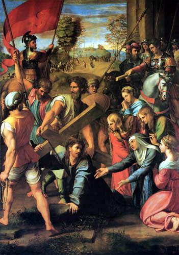Raffaelo Raphael (Sanzio da Urbino) - Christ on the road to Calvary