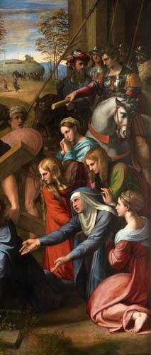 Raffaelo Raphael (Sanzio da Urbino) - Die Kreuztragung, Detail