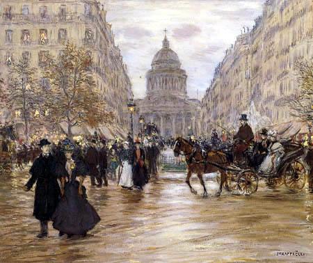 Jean-François Raffaëlli - Boulevard Saint-Michel