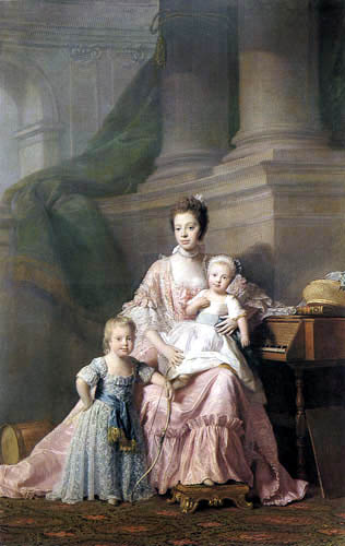 Allan Ramsay - Queen Charlotte with two of her children