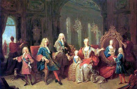 Jean Ranc - The family of Phillip V