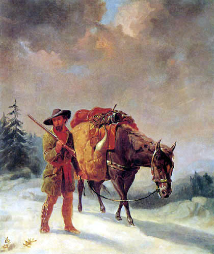 William Tylee Ranney - A Trapper Crossing the Mountains