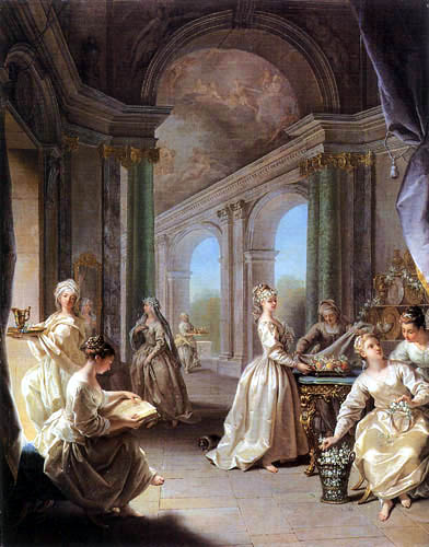 Jean Raoux - Die modernen Jungfrauen