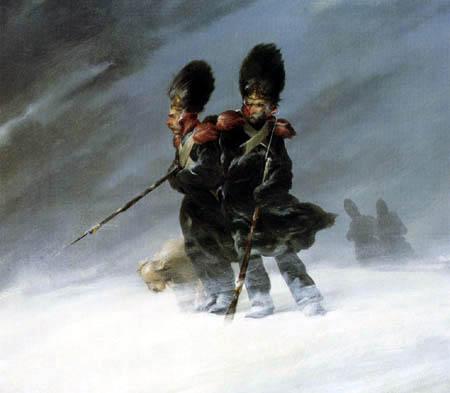 Ferdinand von Rayski - Grenadiere im Schnee