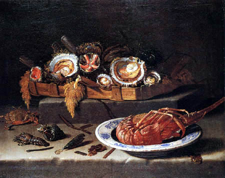 Giovanni (Giovan Battista) Recco - Lobster and seafood