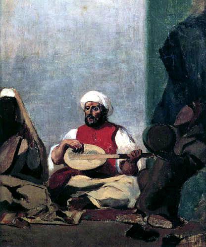 Odilon Redon - Le mariage de juif (après Delacroix)
