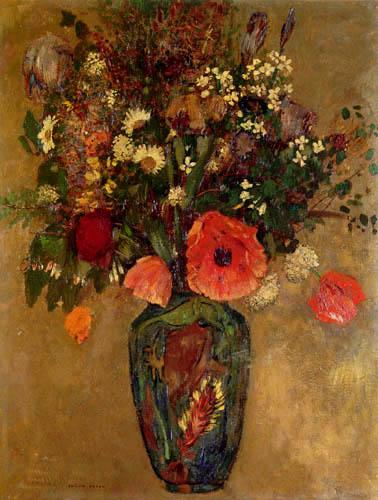 Odilon Redon - Nature morte de fleurs
