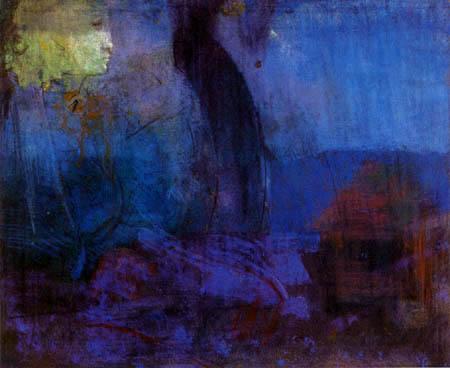 Odilon Redon - Sitzende Figur
