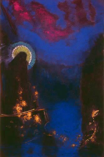 Odilon Redon - Jungfrau mit Schleier