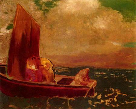 Odilon Redon - La barque de Isolde