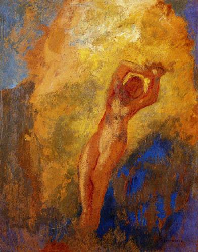 Odilon Redon - Angélique à la roche