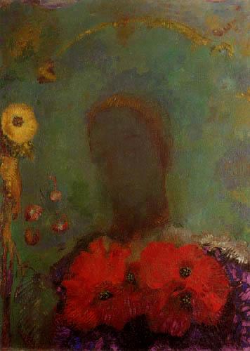 Odilon Redon - Mädchen mit Mohnblumen