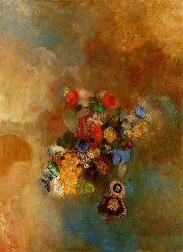 Odilon Redon - Mädchen mit Blumen