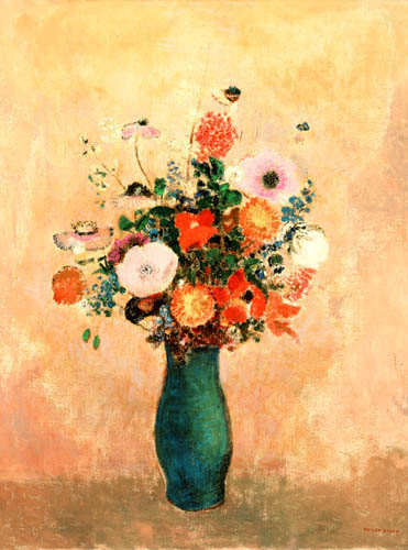 Odilon Redon - Wildblumen in grüner Vase