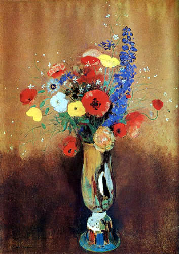 Odilon Redon - Vase mit Blumen