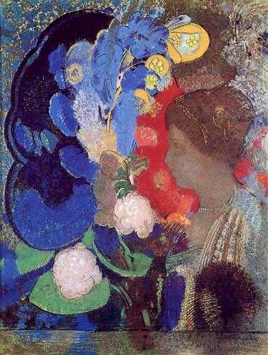 Odilon Redon - Femme entre les fleurs