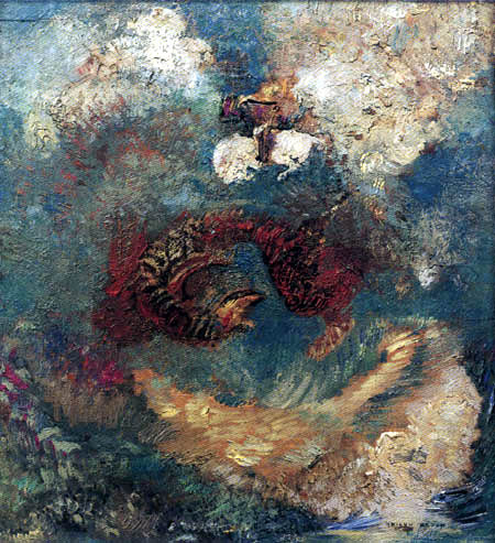 Odilon Redon - Saint George Slaying the Dragon