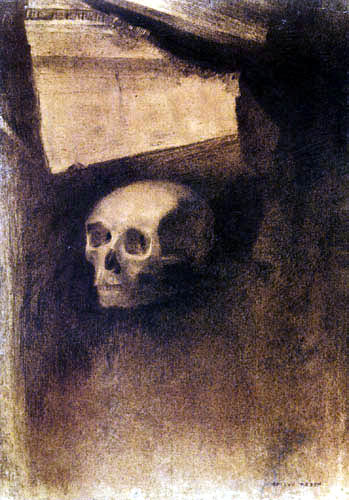 Odilon Redon - A través de la grieta del muro