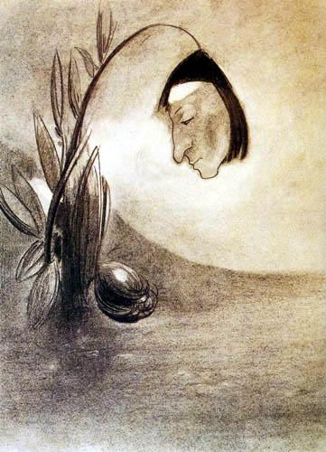 Odilon Redon - Flor de ciénaga