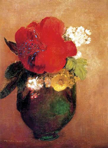 Odilon Redon - Pavot rouge
