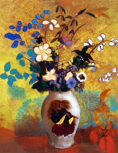 Odilon Redon - Fleurs exotiques dans un vase