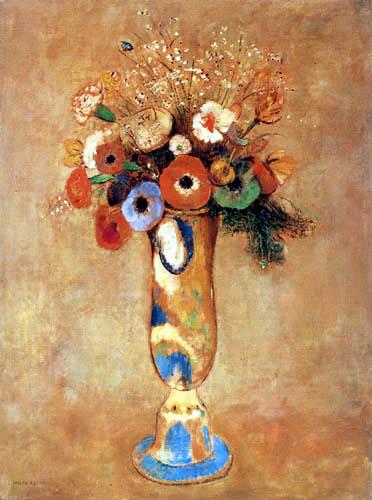 Odilon Redon - Fleurs dans un vase peint