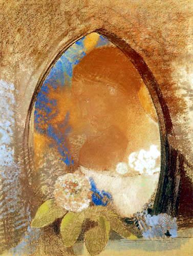 Odilon Redon - Portrait avec des fleurs