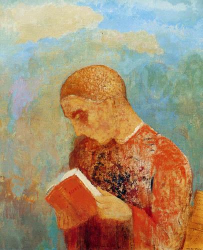 Odilon Redon - Lecture de moine
