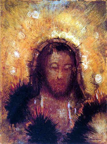 Odilon Redon - Christuskopf