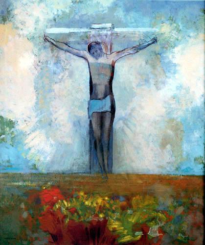 Odilon Redon - Le Christ dans la croix