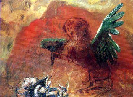 Odilon Redon - Pegasus and the Snake