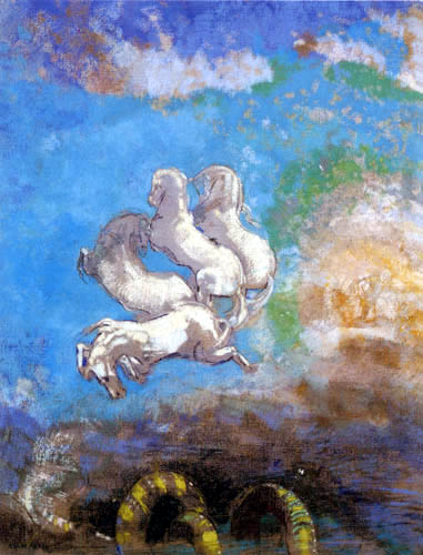 Odilon Redon - Chariot d'Apollo