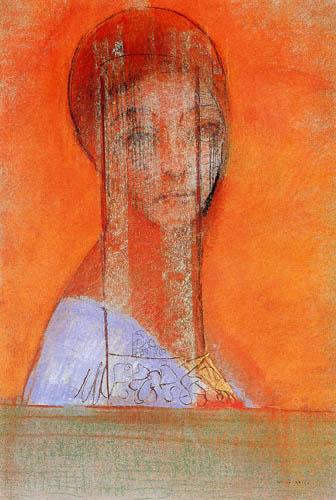 Odilon Redon - Frau mit Schleier