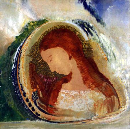 Odilon Redon - Profil eines jungen Mädchens