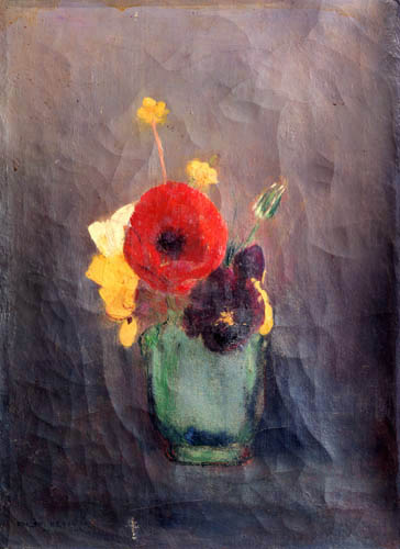 Odilon Redon - Bunch of flowers and poppies