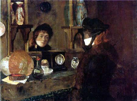 Darío de Regoyos y Valdés - Madame avant le miroir