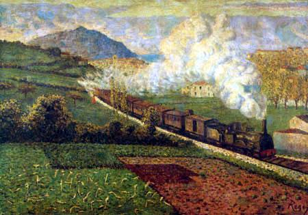 Darío de Regoyos y Valdés - El Tren de las 16 horas, Noviembre, San Sebastian
