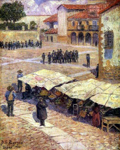 Darío de Regoyos y Valdés - Strike in Bejar